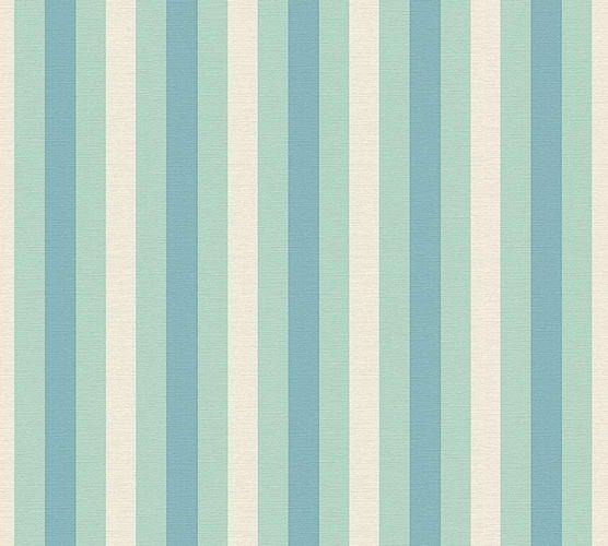 Wallpaper Lars Contzen stripes turquoise blue 34212-2