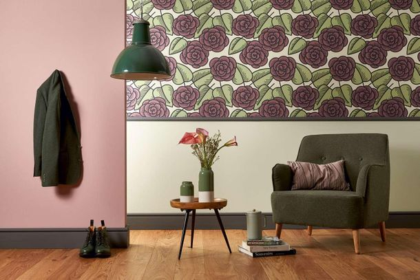 Wallpaper Lars Contzen flower green purple 34213-4 online kaufen