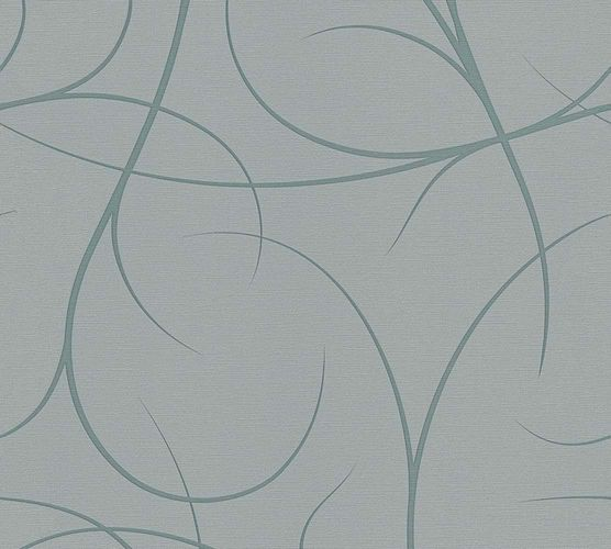 Wallpaper Lars Contzen tendrils green grey 34215-3