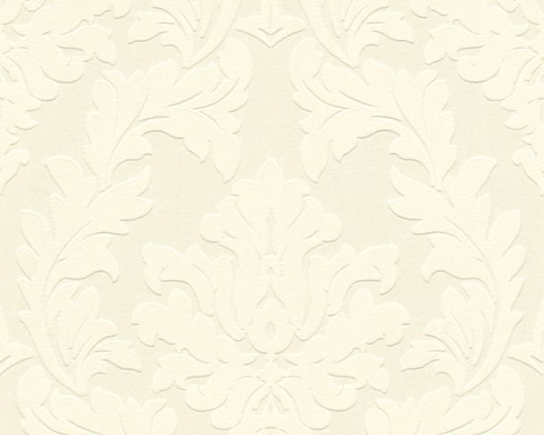 Flock wallpaper baroque floral cream Architects Paper 33580-1 online kaufen