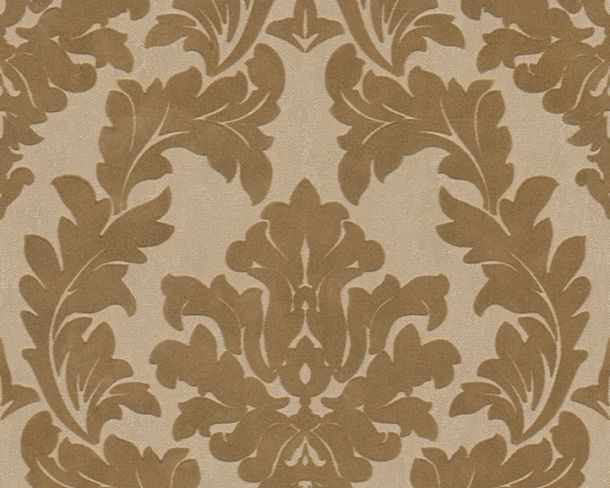 Flock wallpaper baroque floral brown Architects Paper 33580-2 online kaufen