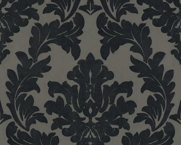 Flock wallpaper baroque floral grey Architects Paper 33580-5 online kaufen
