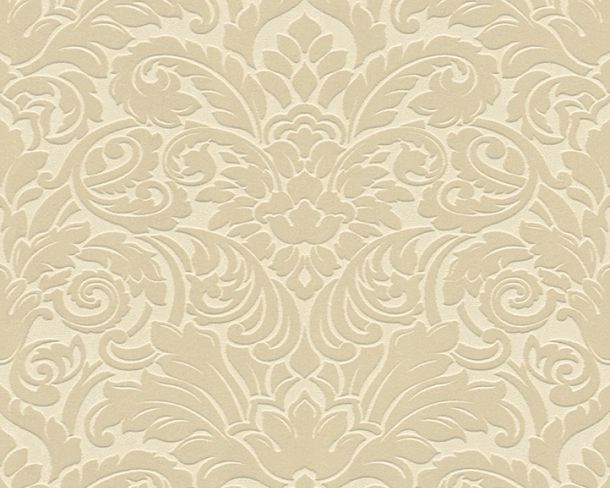 Flock wallpaper baroque cream beige Architects Paper 33583-1 online kaufen