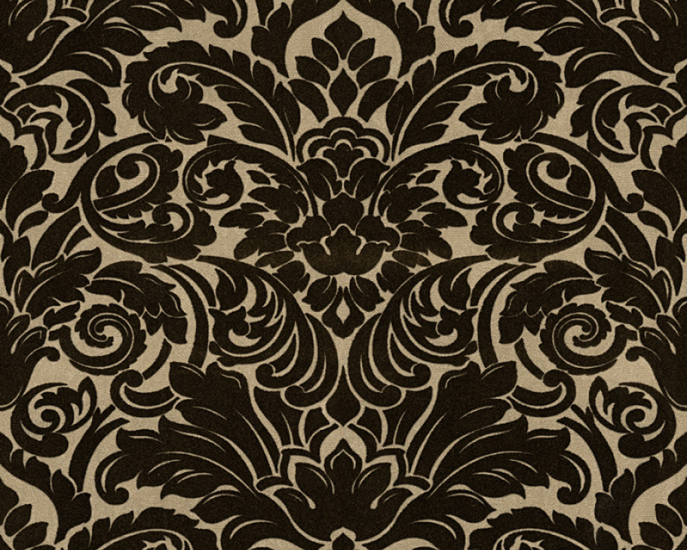 Flock wallpaper baroque beige architects paper 33583 4 for Flock wallpaper