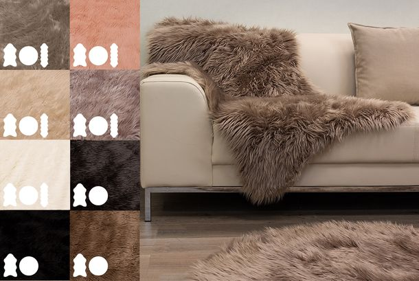Soft Sheepskin Rug Carpet Sheep Carpet Mat Imitation Fur