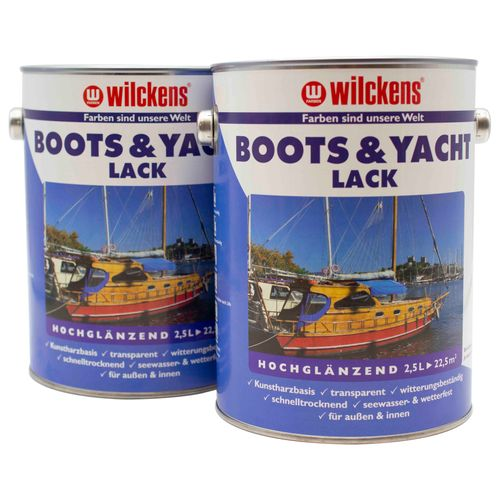 Wilckens Boat and Yacht Coating transparent Lacquer 2,5L