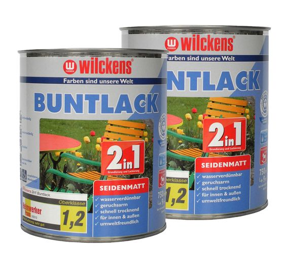 Wilckens Paint Lacquer Varnish 2in1 silk-mat 750 ml