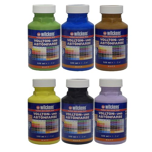 Wilckens Tinting Paint Mixing Acrylic Painting 6 Colours 250ml