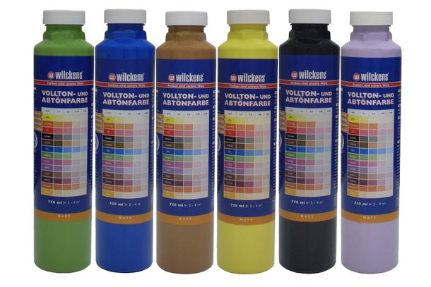 Wilckens Tinting Paint Mixing Acrylic Painting 6 Colours 750ml online kaufen