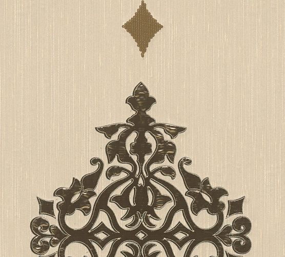 Wallpaper panel ornaments beige brass Architects Paper 30617-2