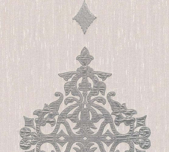 Wallpaper panel ornaments grey silver Architects Paper 30617-3