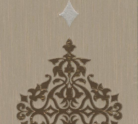 Wallpaper panel ornaments beige grey brass Architects Paper 30617-4