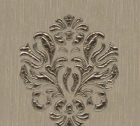 Wallpaper panel ornament beige grey Architects Paper 30634-4