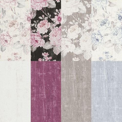 Wallpaper Rasch flower vintage plain texture used design