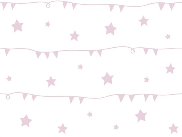 Kids Wallpaper World Wide Walls garland stars rose U3026-2