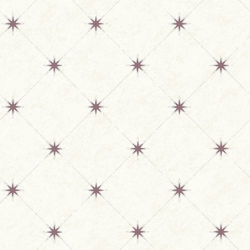 Wallpaper Rasch Textil stars sqaure white purple 021005