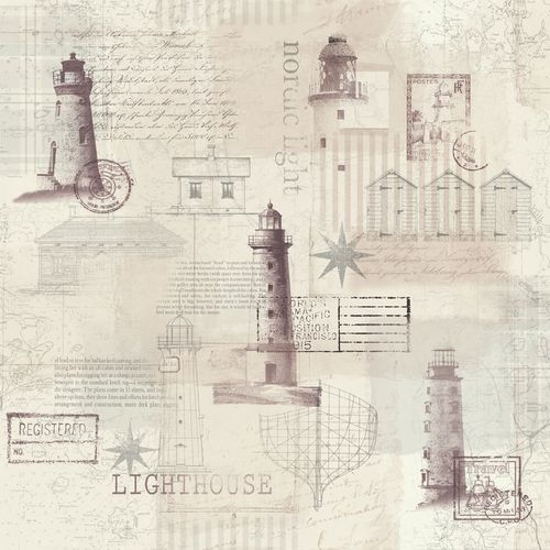 Wallpaper Rasch Textil lighthouse vintage beige 021027