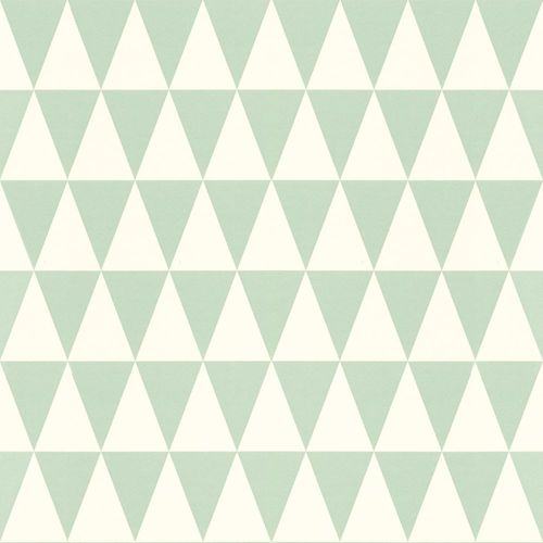 Wallpaper Rasch Textil triangles graphic turqouis white 128843 online kaufen