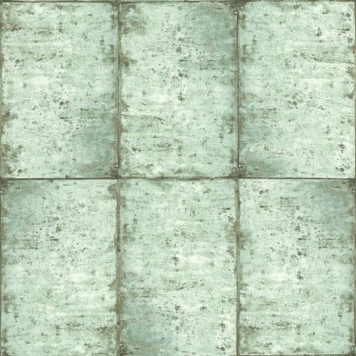 Wallpaper World Wide Walls tiles used turqouis green 138878