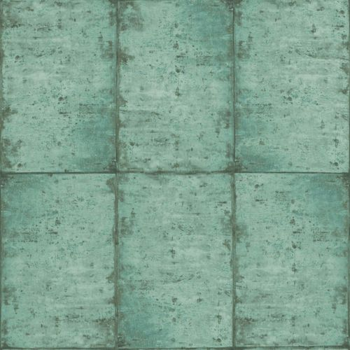 Wallpaper Rasch Textil tiles used green black 138879 online kaufen