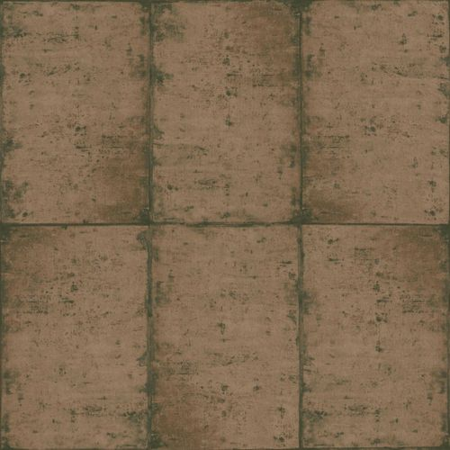 Wallpaper Rasch Textil tiles used brown 138881 online kaufen