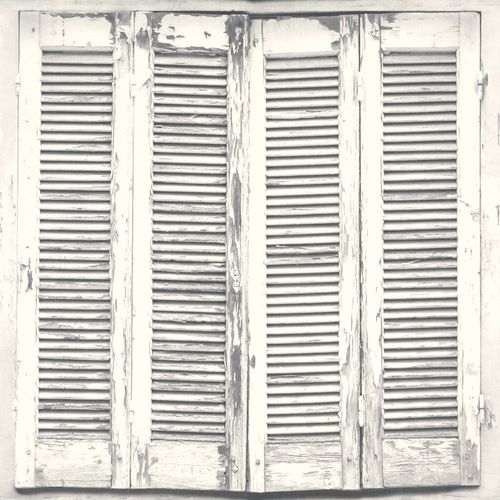 Wallpaper World Wide Walls window shutter white grey 138882