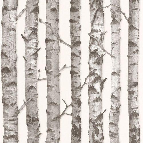 Wallpaper Rasch Textil tree bole white grey 138889 online kaufen