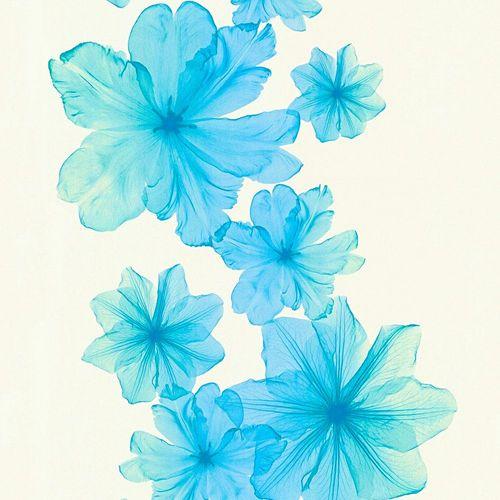 Vliestapete Blüten cremeweiß türkis AS Creation 34272-5 online kaufen