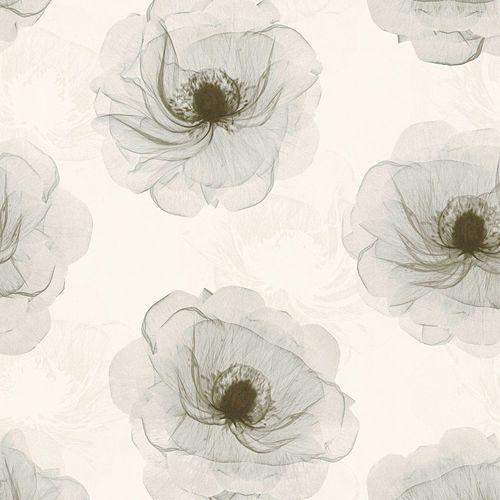Vliestapete Blüten Floral cremeweiß grau 34274-4 online kaufen
