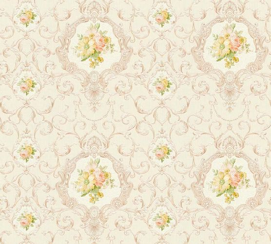 Wallpaper tendril cream white gloss AS Creation 34391-4 online kaufen