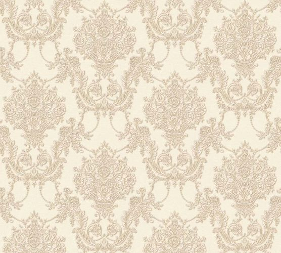 Wallpaper ornament cream gloss AS Creation 34492-1