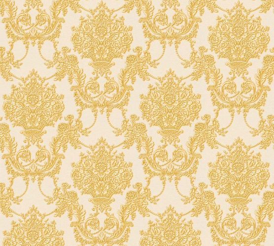 Wallpaper ornament cream gold gloss AS Creation 34492-4