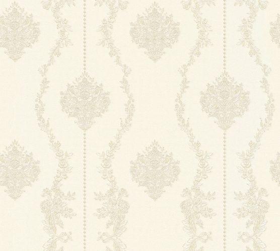 Vliestapete Barock weiß silber Glanz AS Creation 34493-3