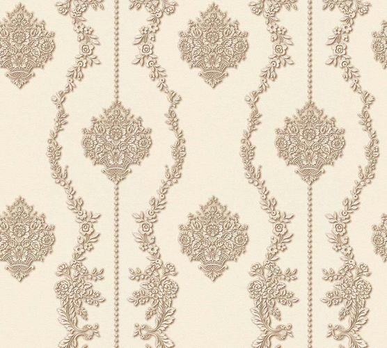 Wallpaper baroque white brown gloss AS Creation 34493-5