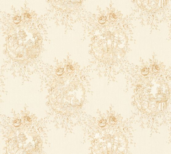 Wallpaper cottage style white beige gloss AS Creation 34499-4 online kaufen