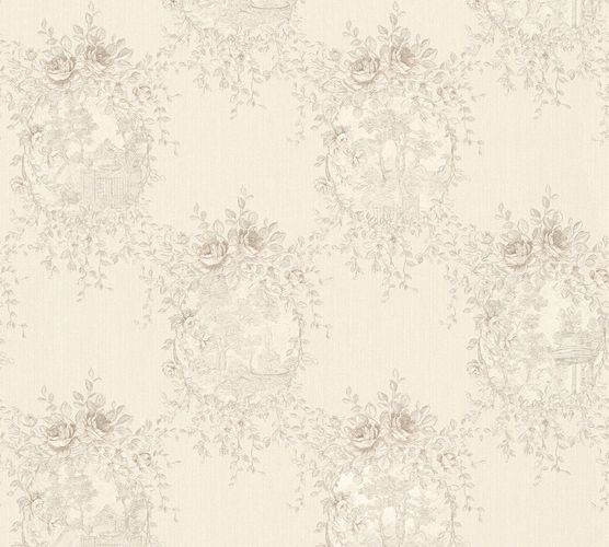 Wallpaper cottage style white gloss AS Creation 34499-5 online kaufen