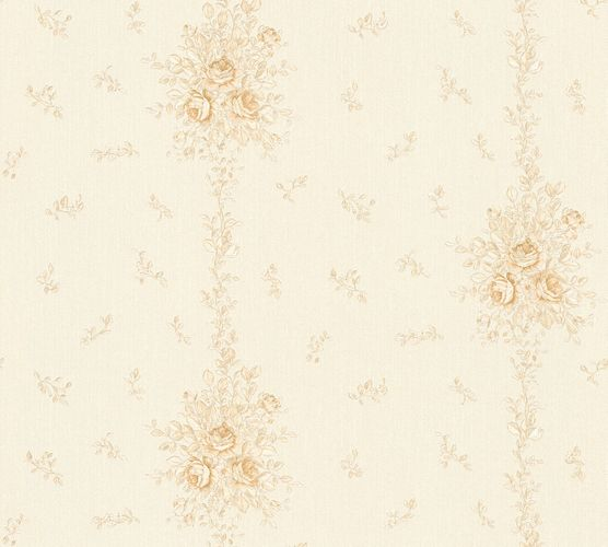 Wallpaper roses white beige gloss AS Creation 34500-4 online kaufen