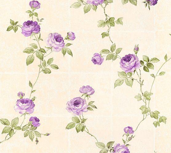 Vliestapete Floral Kacheln beige grün Glanz AS Creation 34501-5 online kaufen