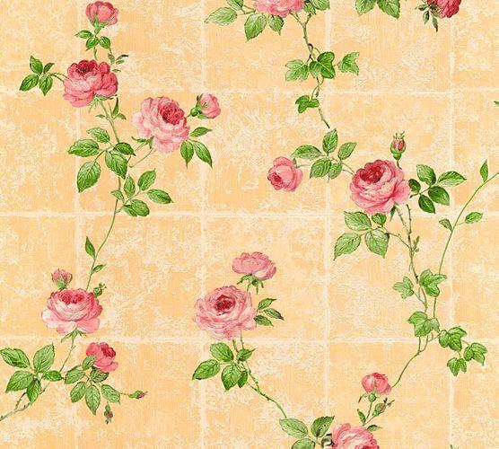 Vliestapete Floral Kacheln orange grün Glanz AS Creation 34501-6 online kaufen