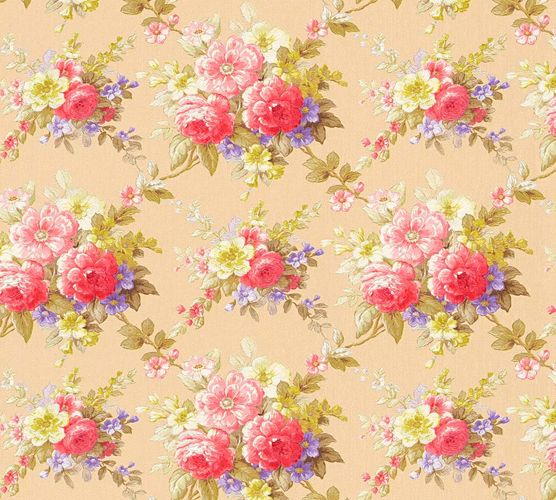 Wallpaper flower colourful gloss AS Creation 34508-2