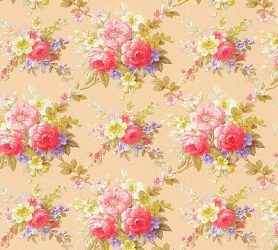 Vliestapete Blumen beige bunt Glanz AS Creation 34508-2