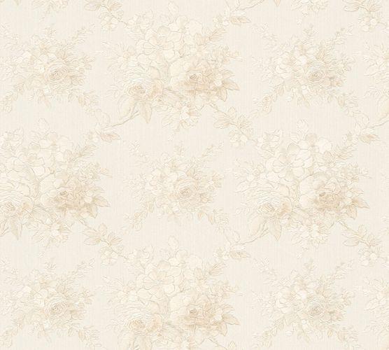 Vliestapete Blumen weiß perlmutt Glanz AS Creation 34508-5