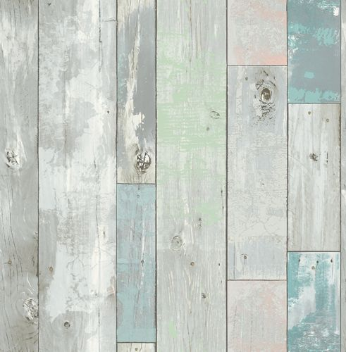 Wallpaper World Wide Walls wooden timber grey green 020016