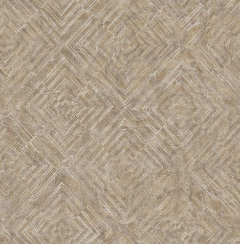 Wallpaper Rasch Textil graphic pattern brown silver 024002 online kaufen