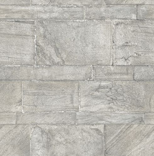 Wallpaper World Wide Walls stone wall grey silver 024023