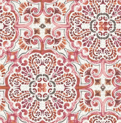 Wallpaper Rasch Textil baroque pattern cream red 024043 online kaufen