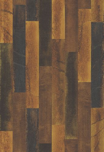 Wallpaper striped pattern copper brown 024047
