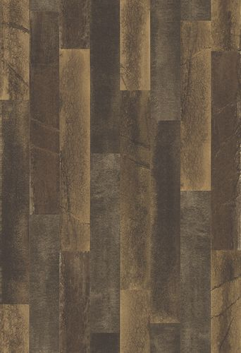 Wallpaper striped pattern dark brown 024049