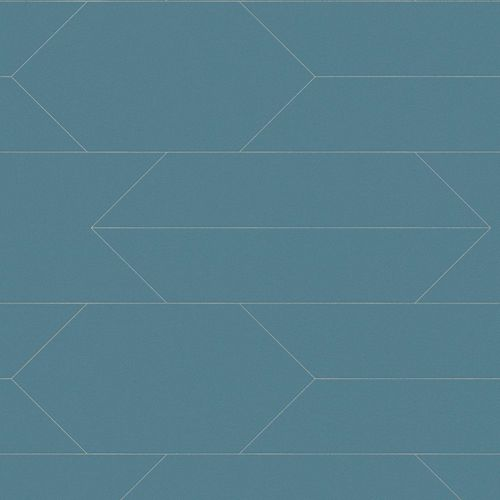 Wallpaper graphic lines blue silver AS Creation 34868-3