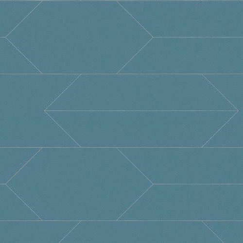 Vliestapete Linien grünblau silber AS Creation 34868-3